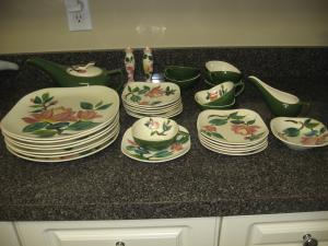 I have some dishes in the Red Wing Blossom Time-Green pattern. I have 7 dinner plates 1 small bowl 5 salad/desert plates 7 saucers 8 teacups and creamer ... : red wing dinnerware patterns - Pezcame.Com