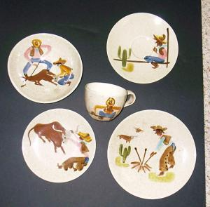 Chuck Wagon or Round Up plates and cups & Chuck Wagon or Round Up plates and cups | Red Wing Collectors ...